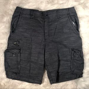 George Men's Sandy Black Cargo Shorts Size 38